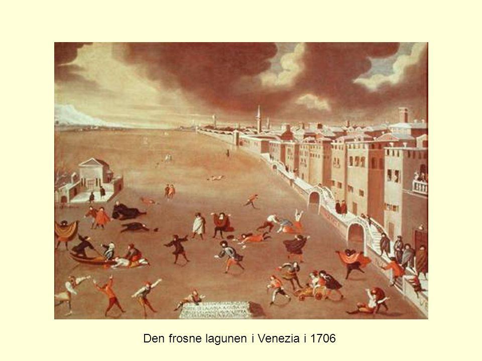 Den frosne lagunen i Venezia i 1706
