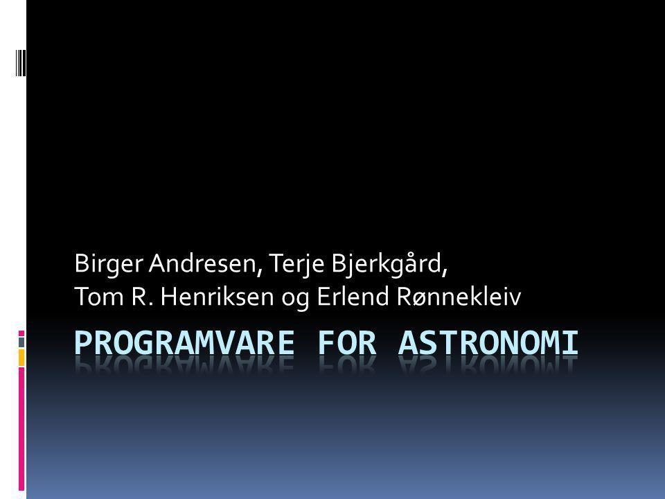 Programvare for astronomi
