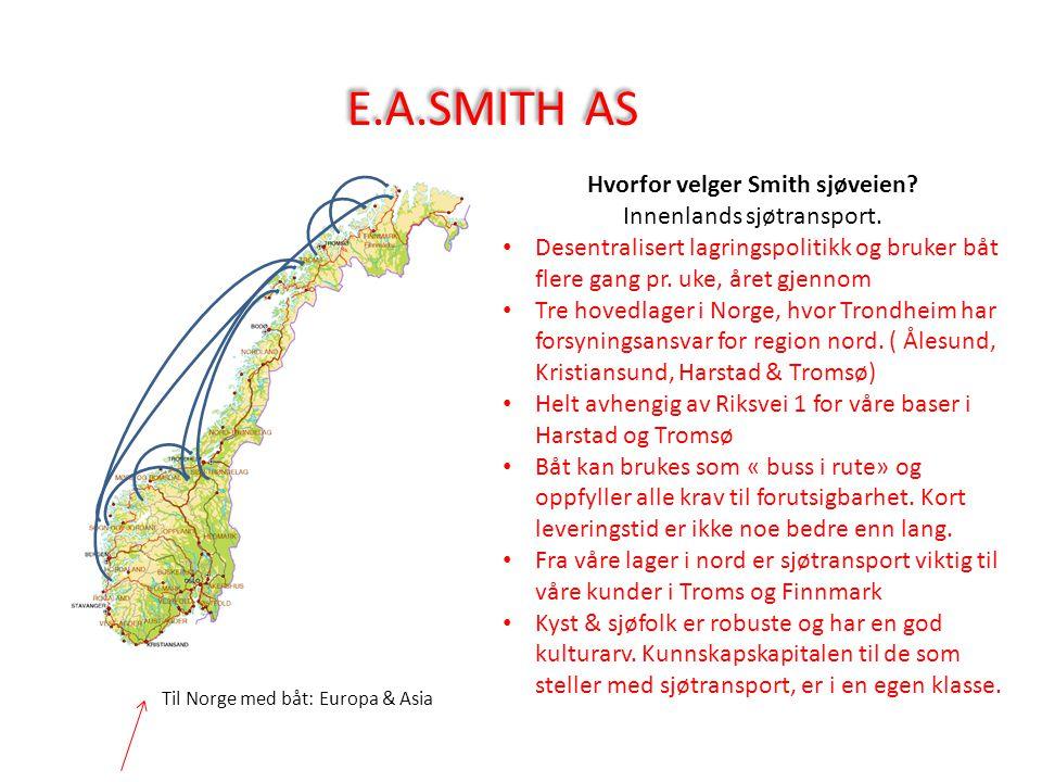 Hvorfor velger Smith sjøveien