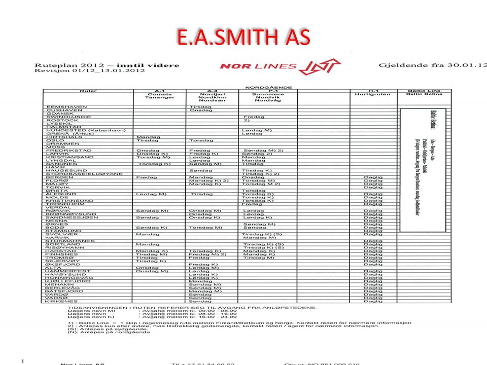 E.A.SMITH AS