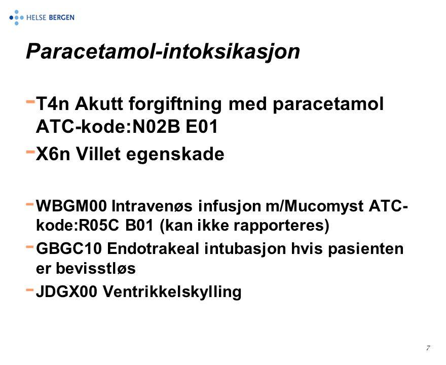 Paracetamol-intoksikasjon