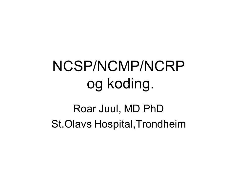 NCSP/NCMP/NCRP og koding.