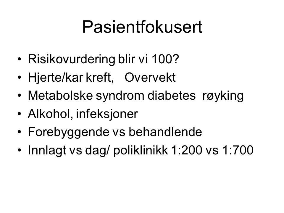 Pasientfokusert Risikovurdering blir vi 100