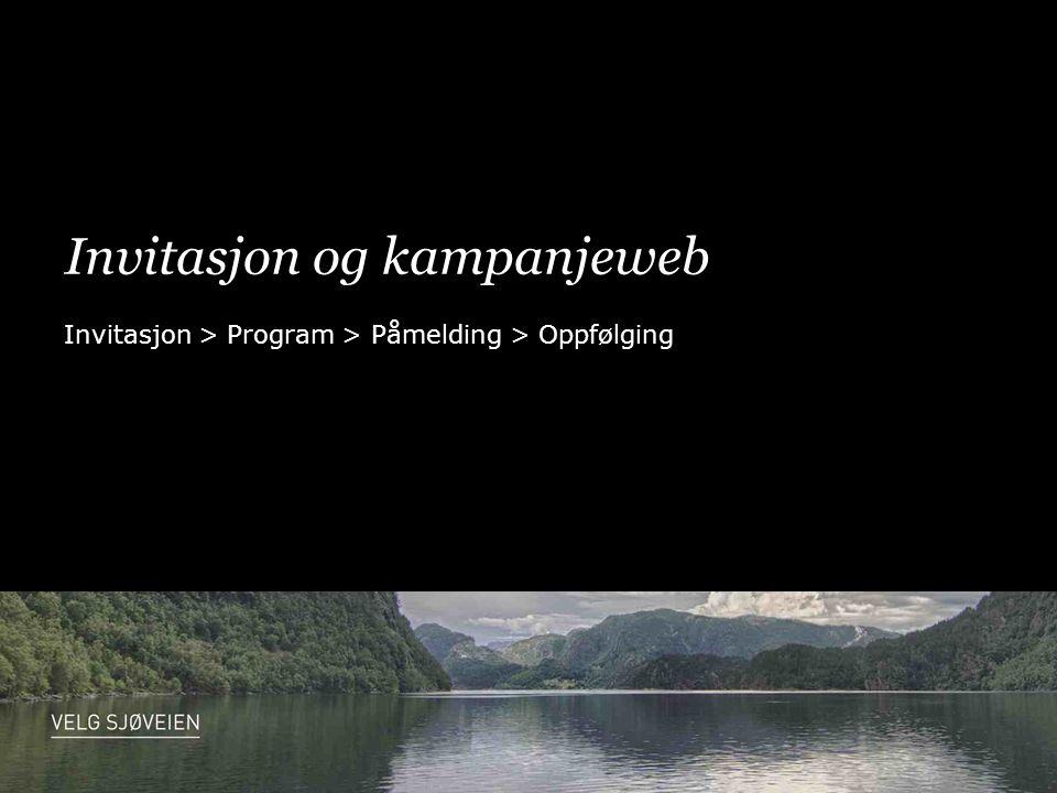 Invitasjon og kampanjeweb