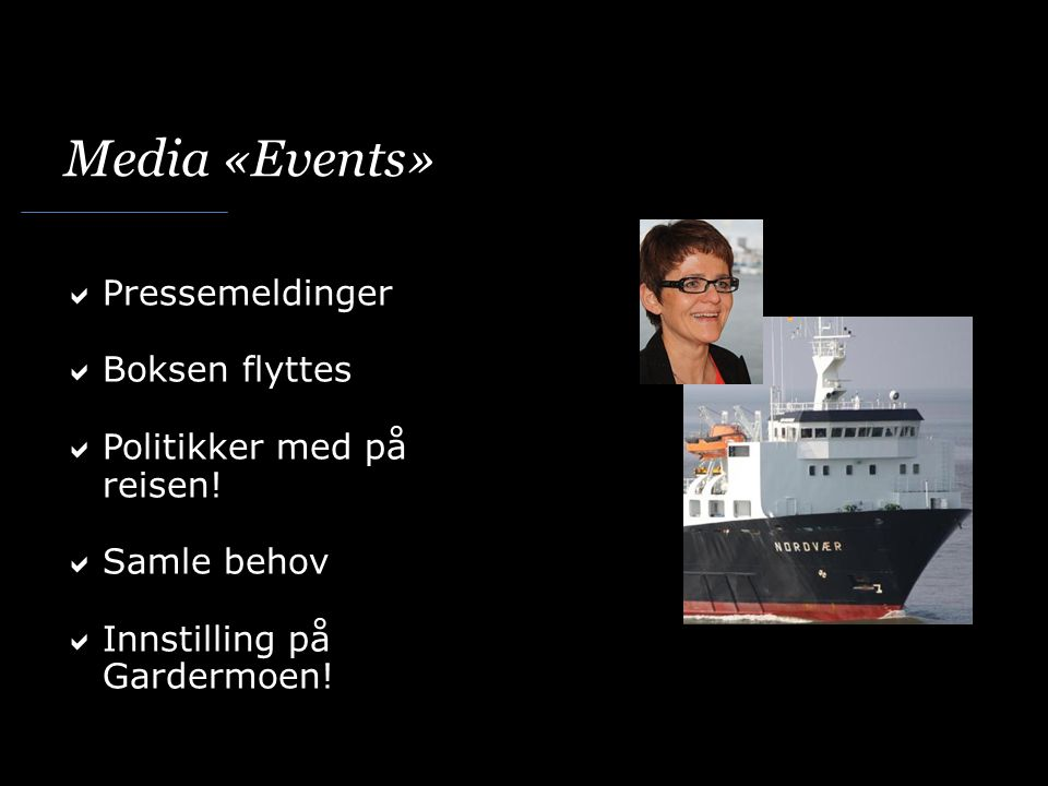 Media «Events» Pressemeldinger Boksen flyttes