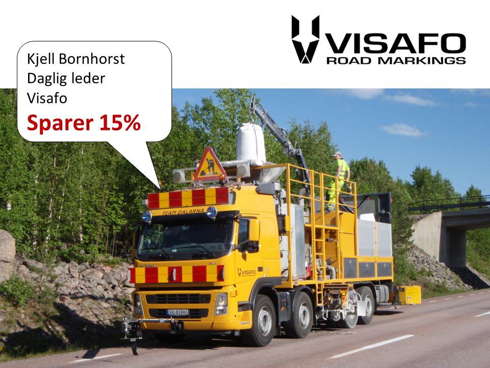 Sparer 15% Kjell Bornhorst Daglig leder Visafo