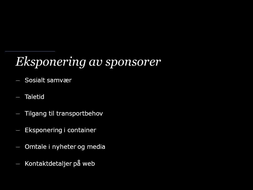 Eksponering av sponsorer