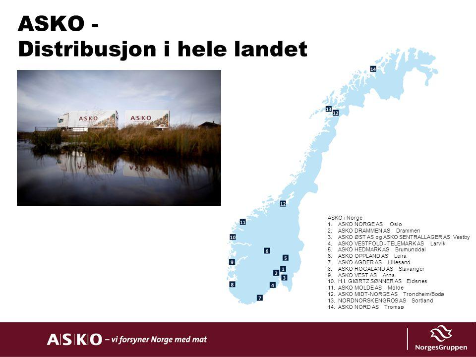 ASKO - Distribusjon i hele landet