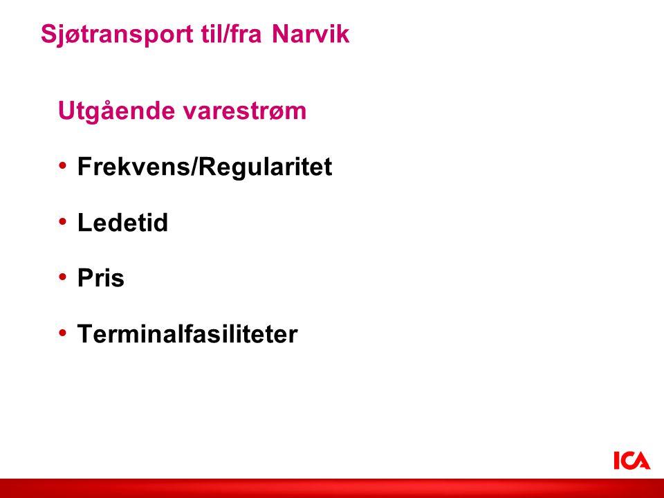 Sjøtransport til/fra Narvik