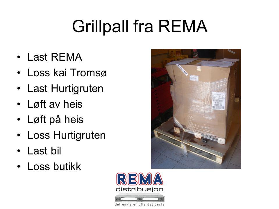 Grillpall fra REMA Last REMA Loss kai Tromsø Last Hurtigruten
