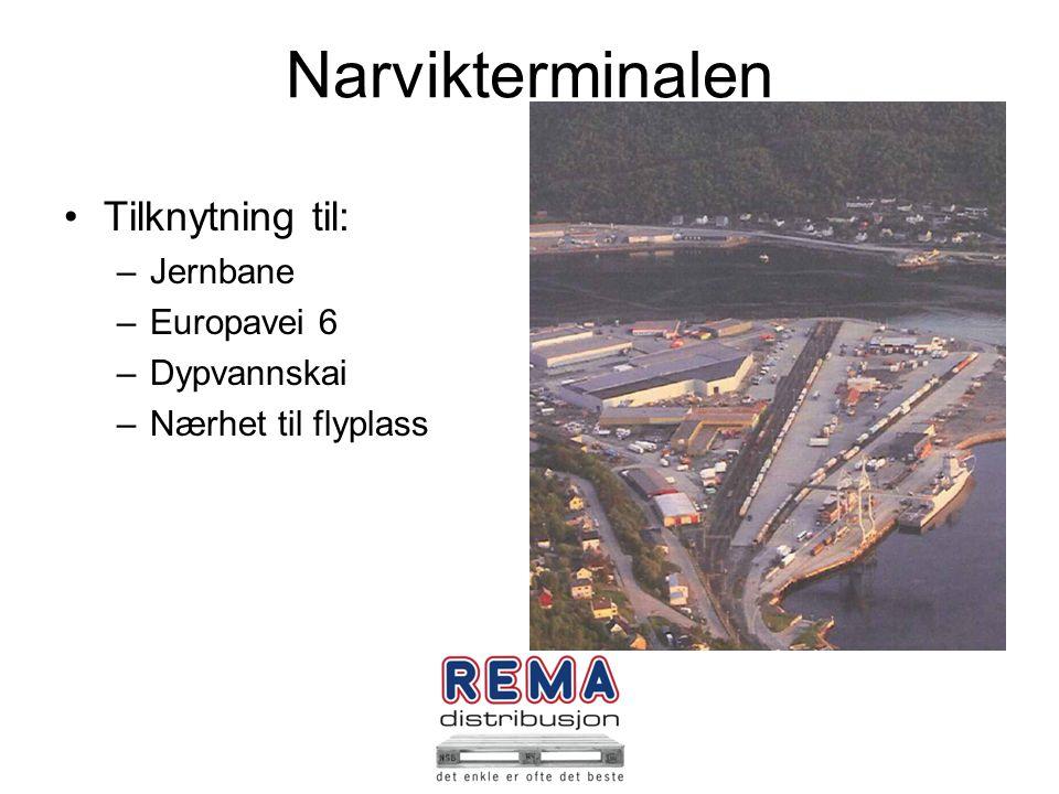 Narvikterminalen Tilknytning til: Jernbane Europavei 6 Dypvannskai
