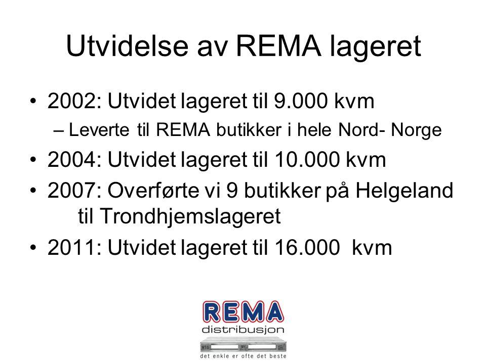 Utvidelse av REMA lageret