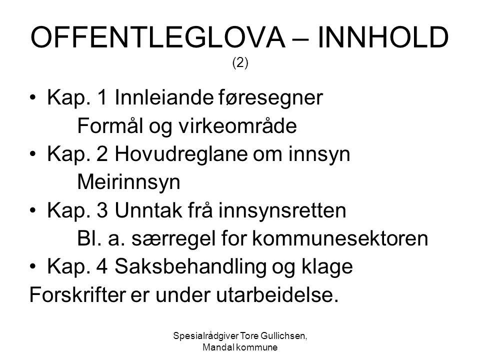 OFFENTLEGLOVA – INNHOLD (2)
