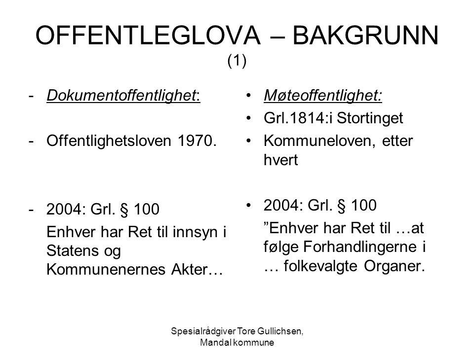 OFFENTLEGLOVA – BAKGRUNN (1)