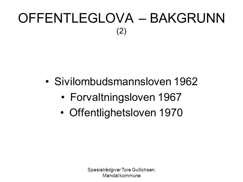 OFFENTLEGLOVA – BAKGRUNN (2)