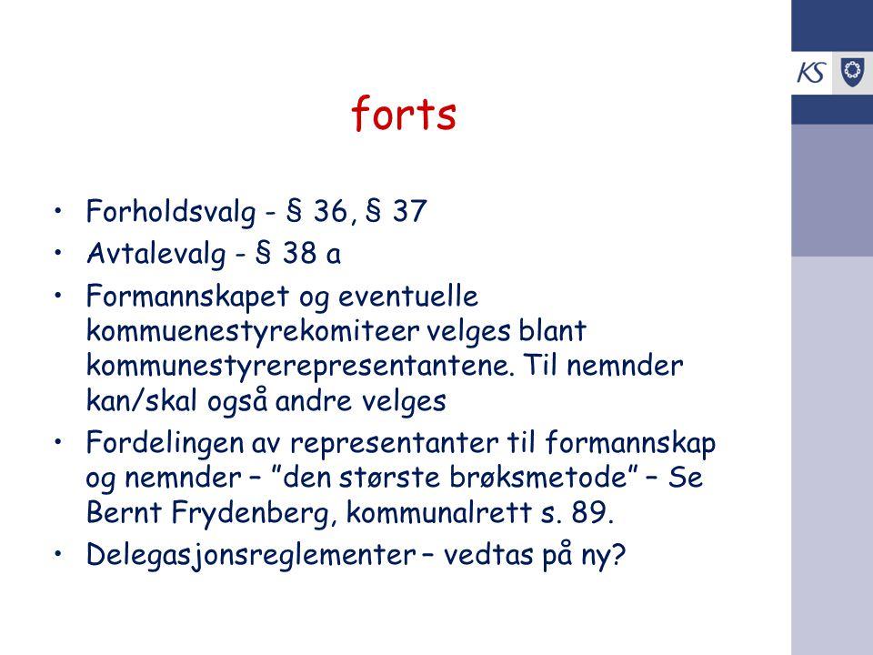 forts Forholdsvalg - § 36, § 37 Avtalevalg - § 38 a