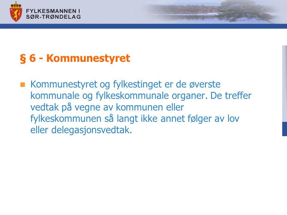 § 6 - Kommunestyret
