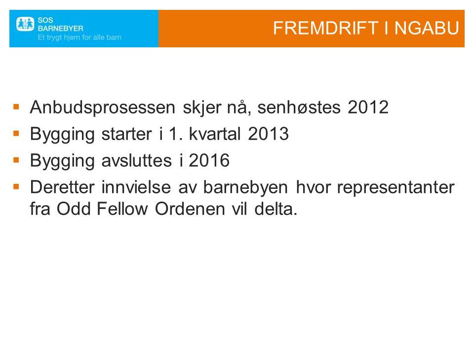 Anbudsprosessen skjer nå, senhøstes 2012