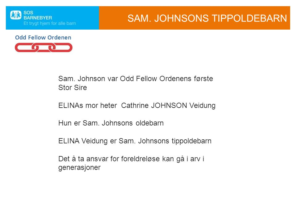 SAM. JOHNSONS TIPPOLDEBARN