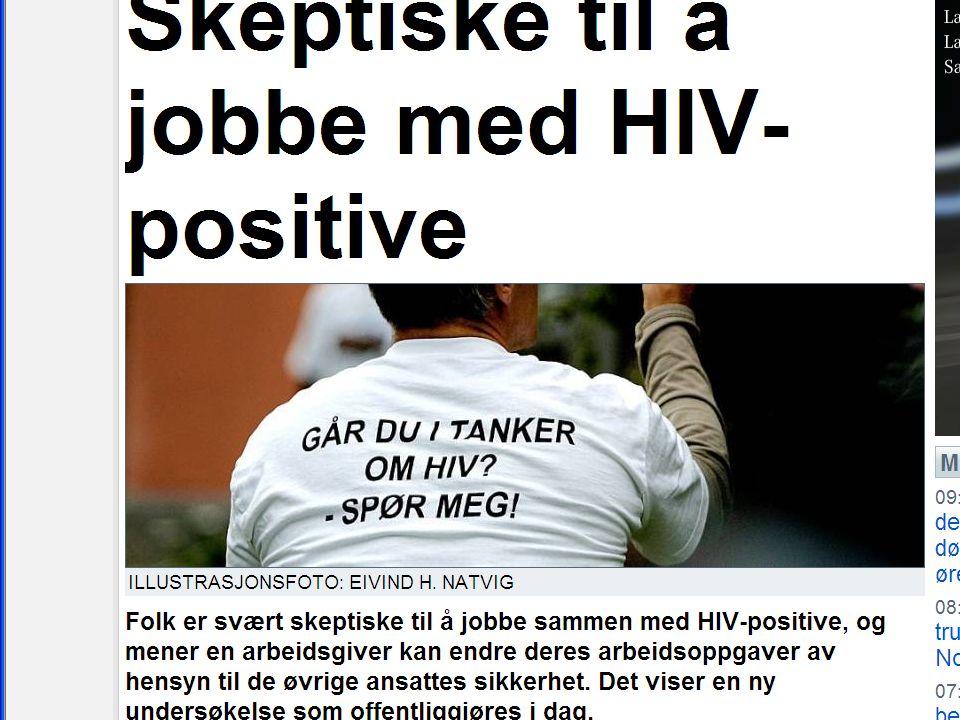 Tre av fem mente at HIV-positive må være forpliktet til å informere arbeidsgiver om sin HIV-status. Halvparten av de spurte mener dessuten at HIV-positive må akseptere at en arbeidsgiver endrer arbeidsoppgaven av hensyn til de øvrige ansattes sikkerhet, sier Roland Mandal, forsker ved Fafo.