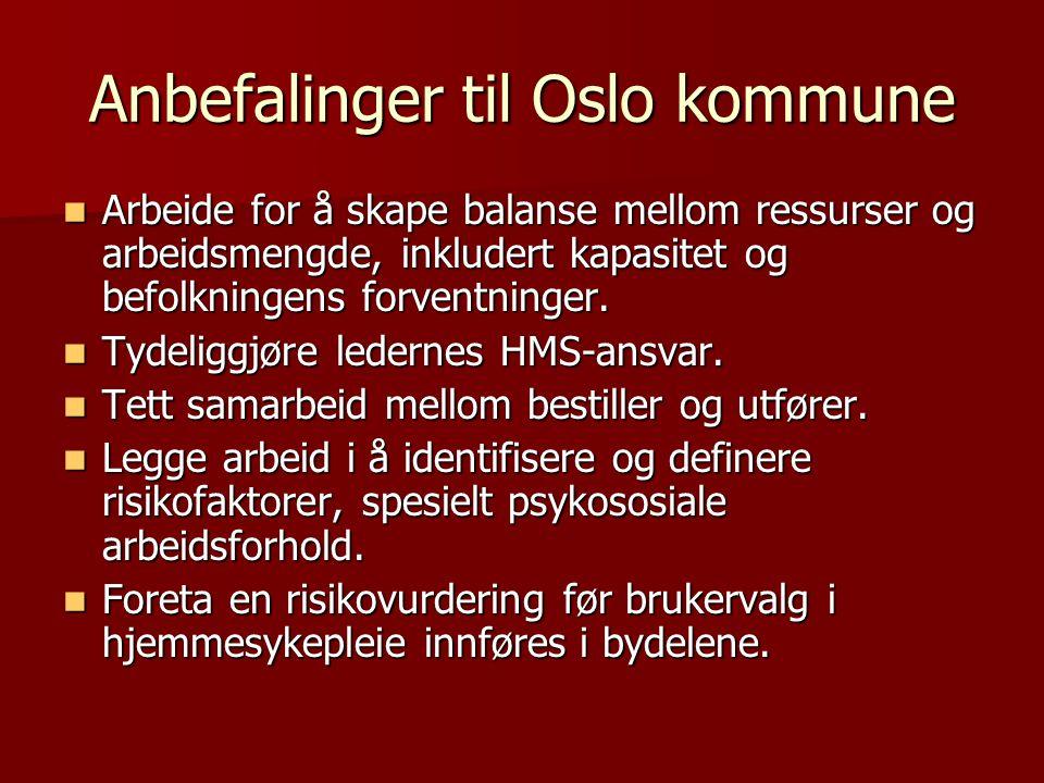 Anbefalinger til Oslo kommune