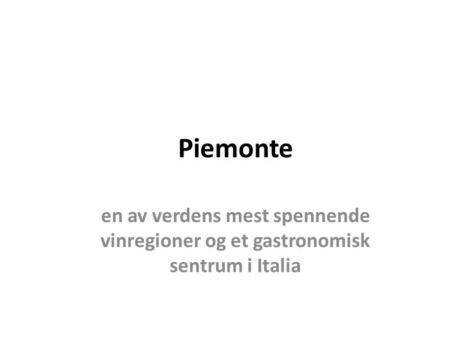 Piemonte en av verdens mest spennende vinregioner og et gastronomisk sentrum i Italia