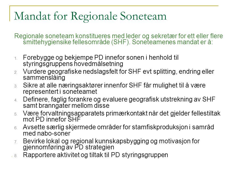 Mandat for Regionale Soneteam