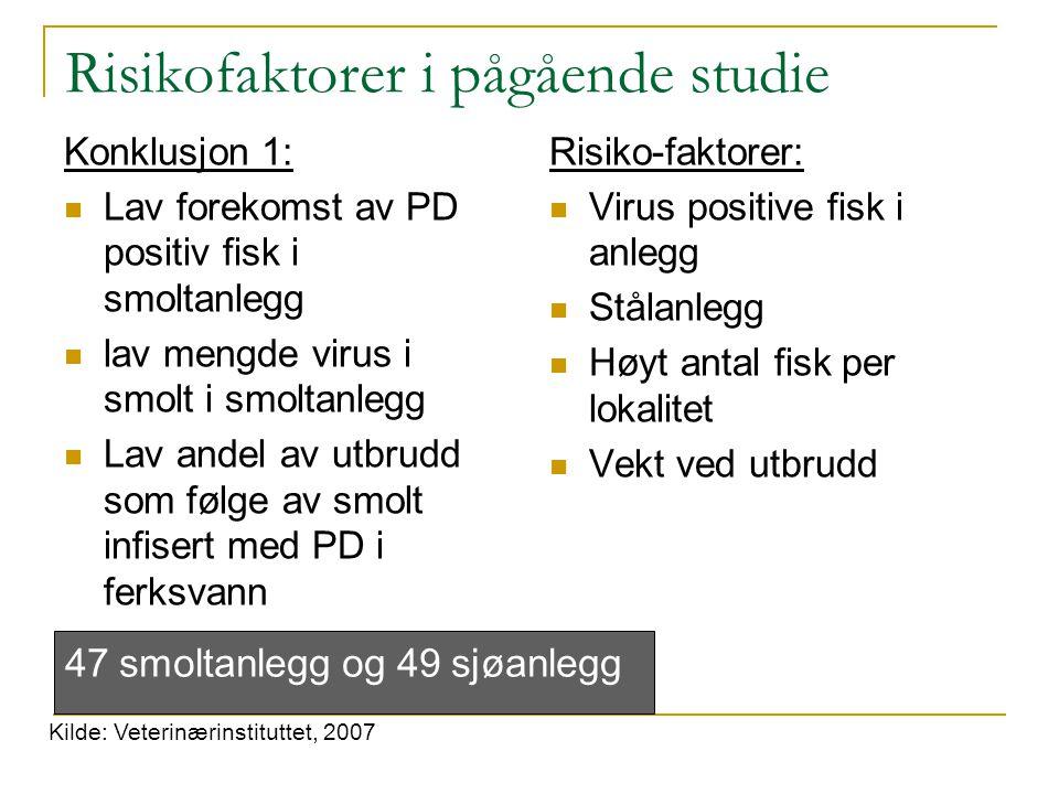 Risikofaktorer i pågående studie