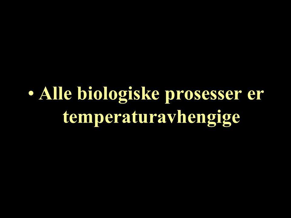 Alle biologiske prosesser er temperaturavhengige