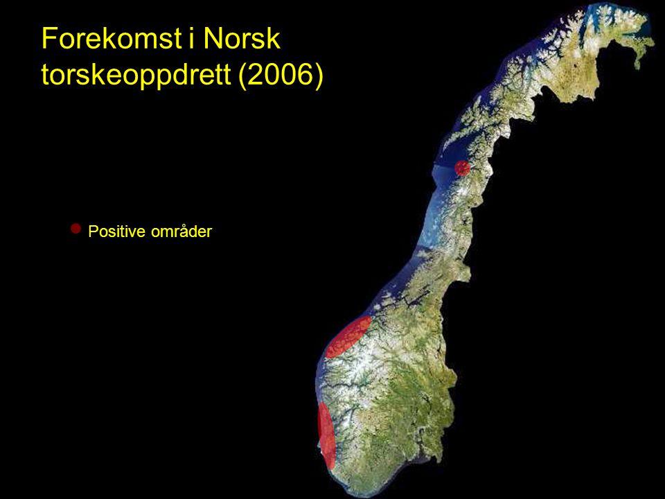 Forekomst i Norsk torskeoppdrett (2006)