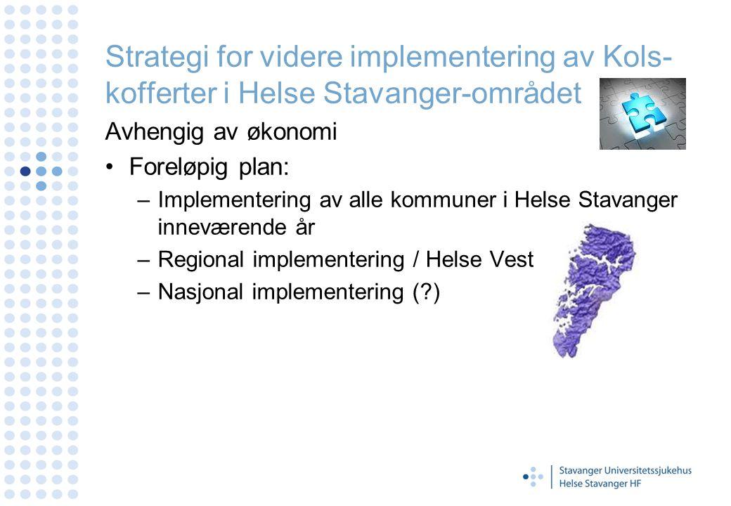 Strategi for videre implementering av Kols-kofferter i Helse Stavanger-området