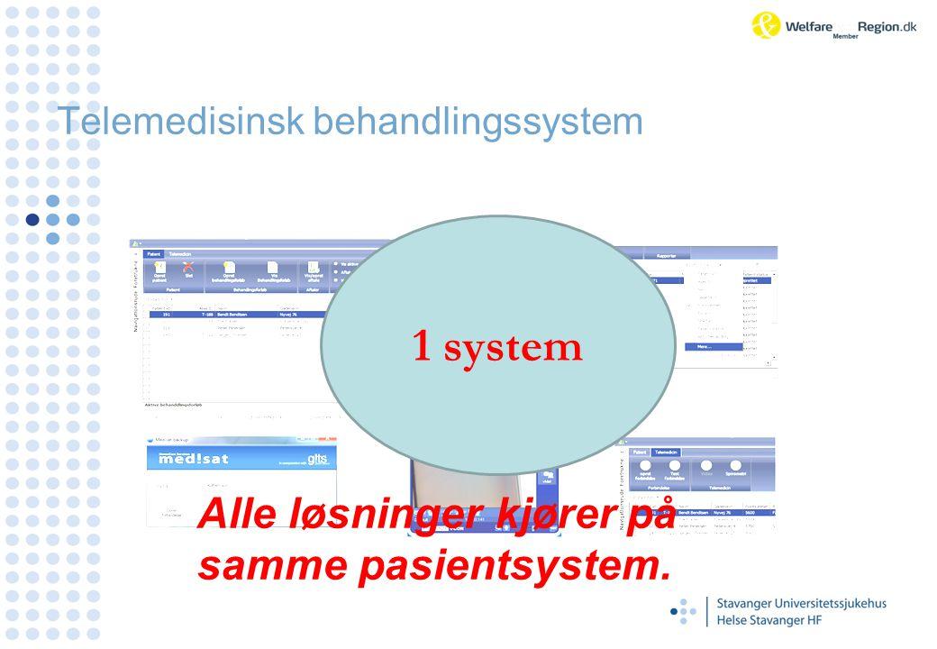 Telemedisinsk behandlingssystem