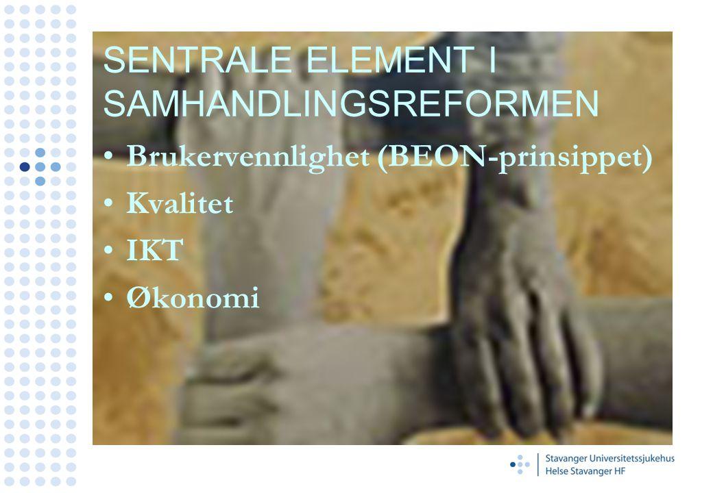 SENTRALE ELEMENT I SAMHANDLINGSREFORMEN