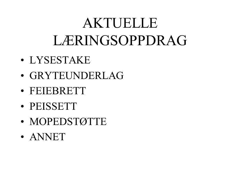 AKTUELLE LÆRINGSOPPDRAG