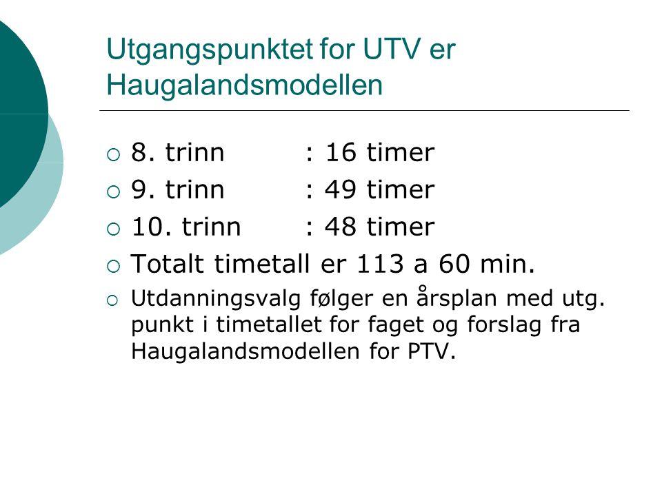 Utgangspunktet for UTV er Haugalandsmodellen