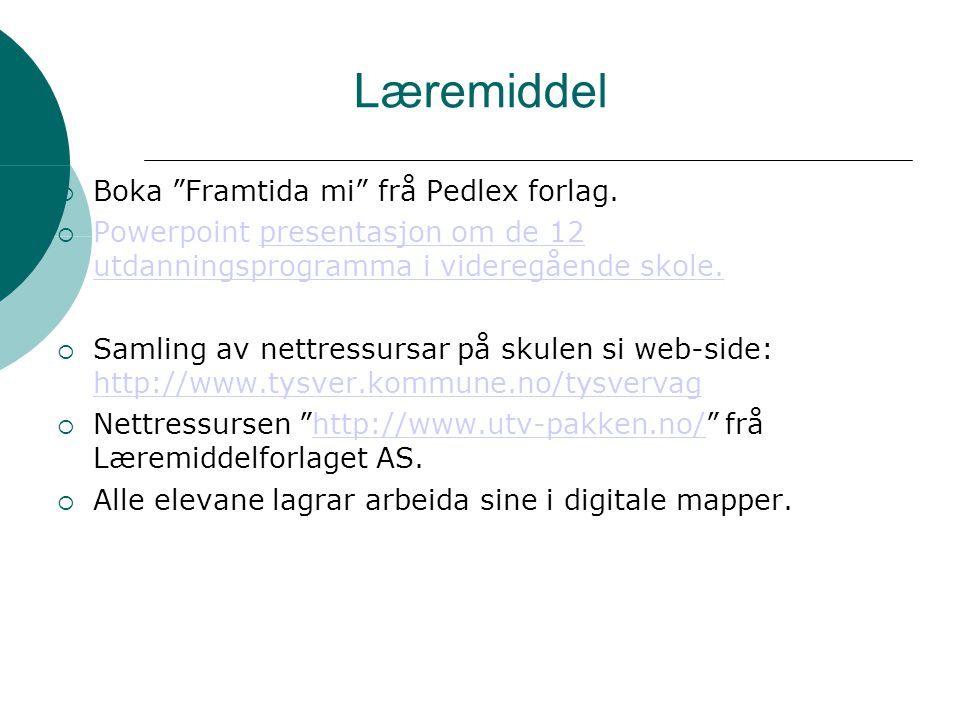 Læremiddel Boka Framtida mi frå Pedlex forlag.