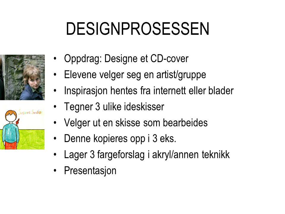DESIGNPROSESSEN Oppdrag: Designe et CD-cover
