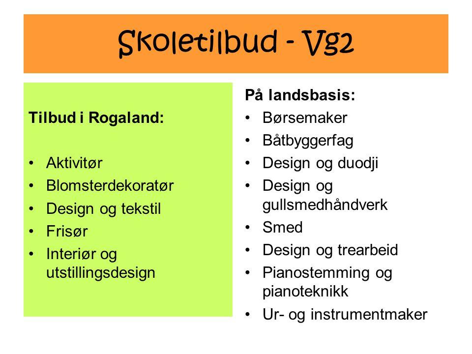 Skoletilbud - Vg2 Tilbud i Rogaland: Aktivitør Blomsterdekoratør