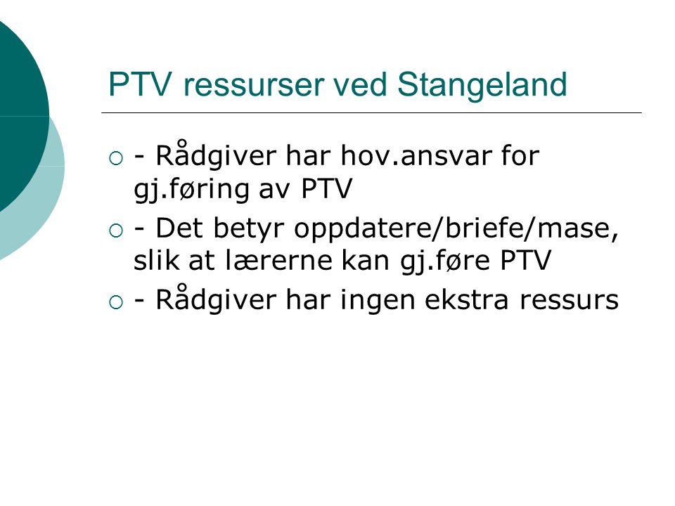 PTV ressurser ved Stangeland