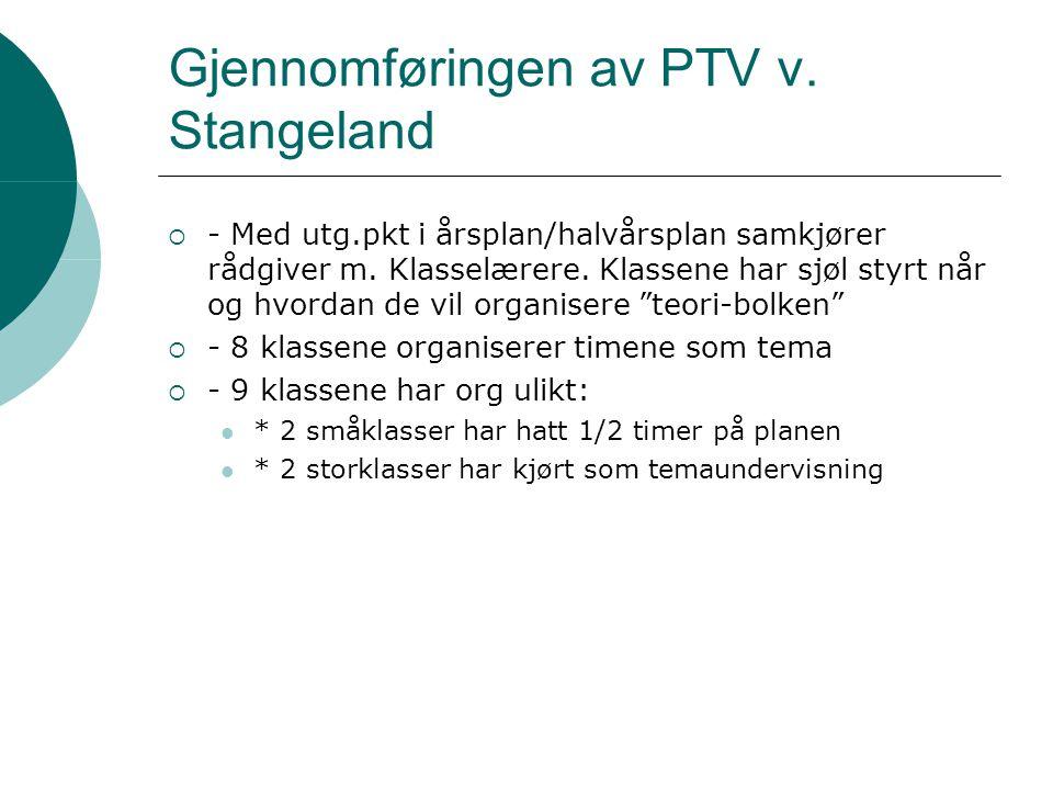 Gjennomføringen av PTV v. Stangeland