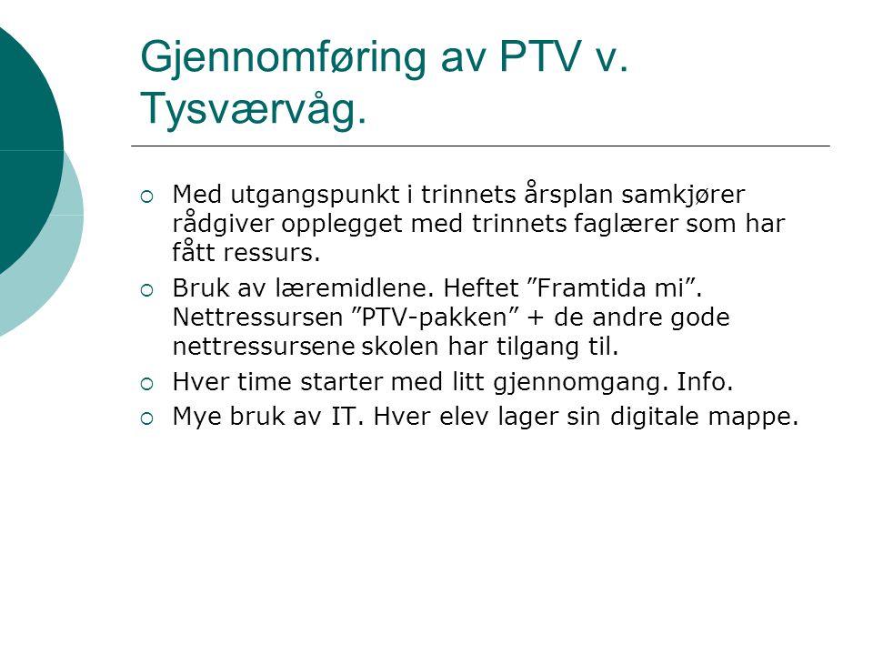Gjennomføring av PTV v. Tysværvåg.
