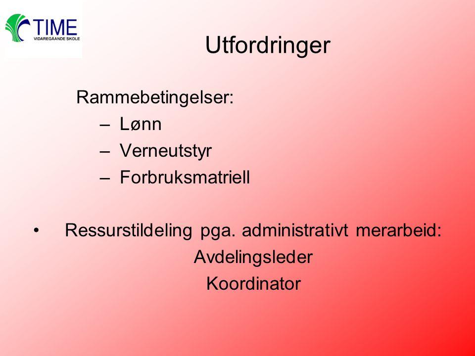 Ressurstildeling pga. administrativt merarbeid: