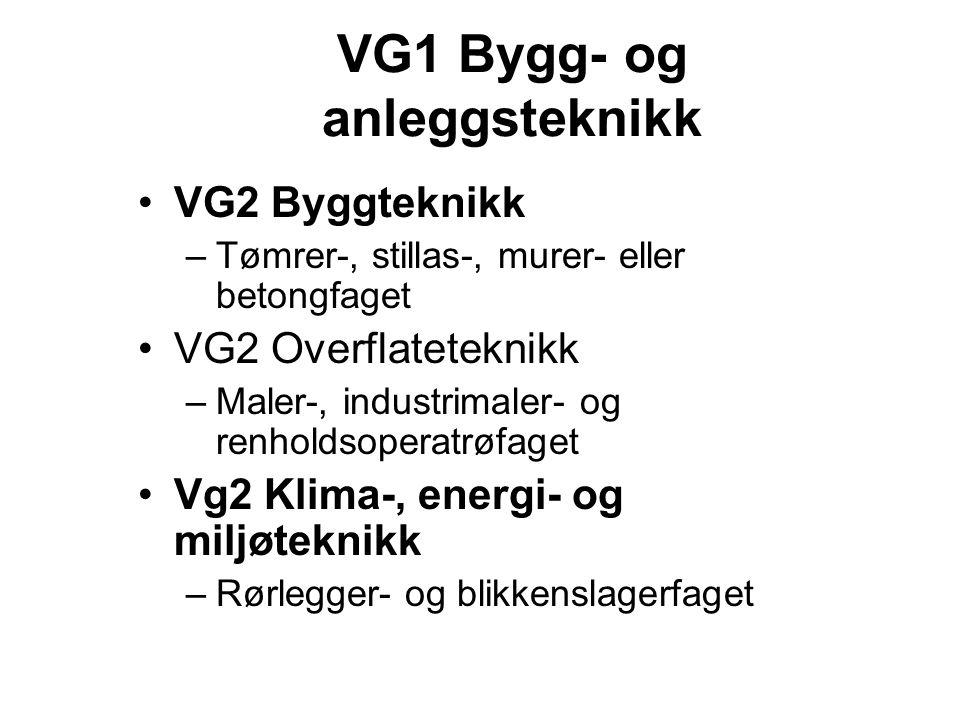 VG1 Bygg- og anleggsteknikk