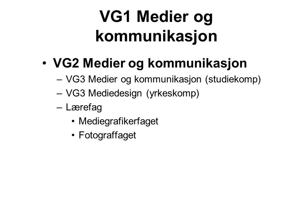 VG1 Medier og kommunikasjon