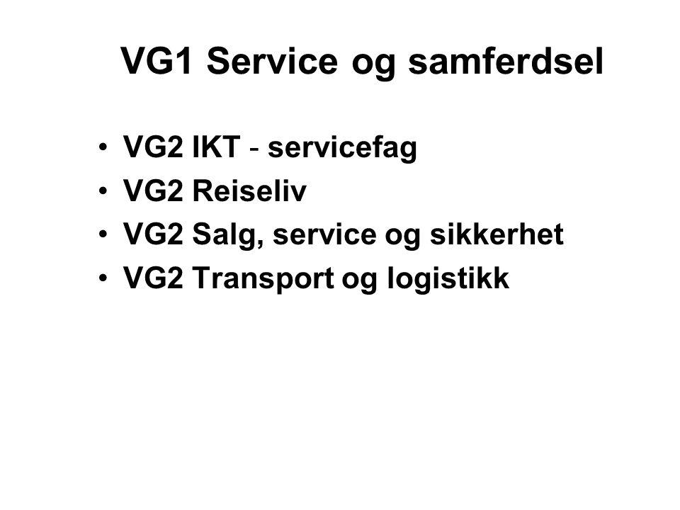 VG1 Service og samferdsel