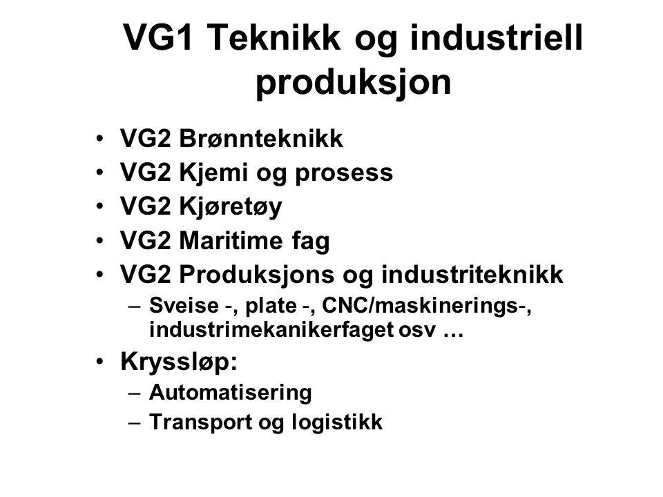 VG1 Teknikk og industriell produksjon