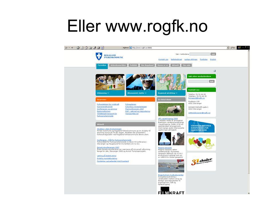 Eller www.rogfk.no