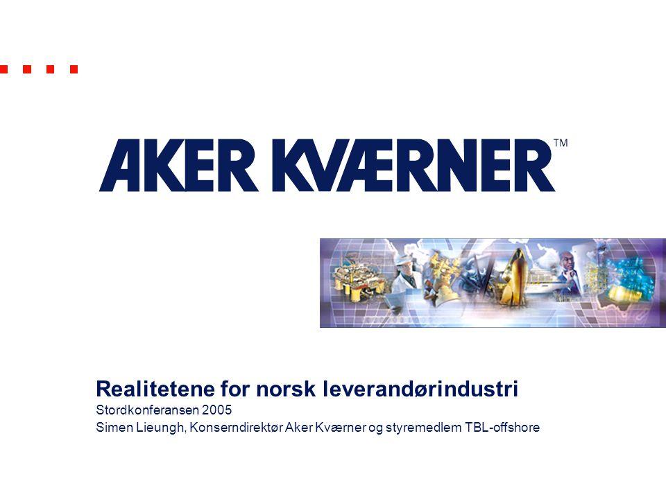 Realitetene for norsk leverandørindustri