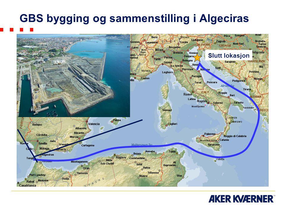 GBS bygging og sammenstilling i Algeciras