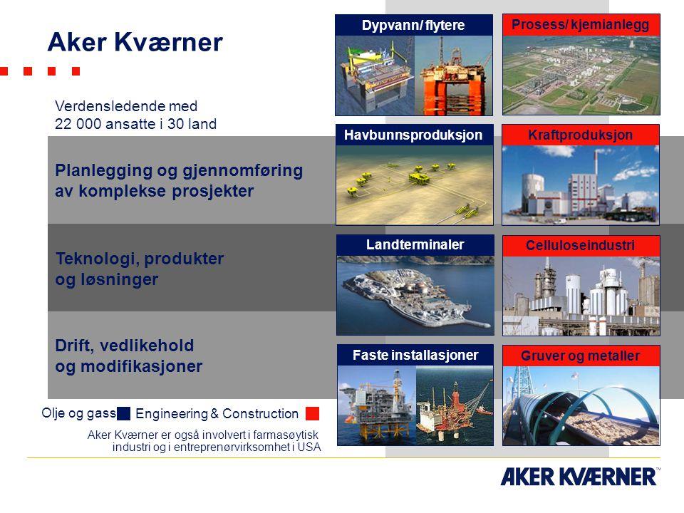 Aker Kværner Planlegging og gjennomføring av komplekse prosjekter